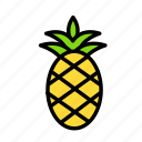 pinaple, relaxation, seasonal, vacation icon