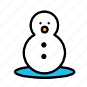 relaxation, seasonal, snowman, vacation icon