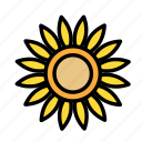 relaxation, seasonal, sunflower, vacation icon