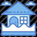architecture, flood, inundation, rain icon