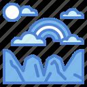 atmospheric, clouds, rainbow, spectrum icon