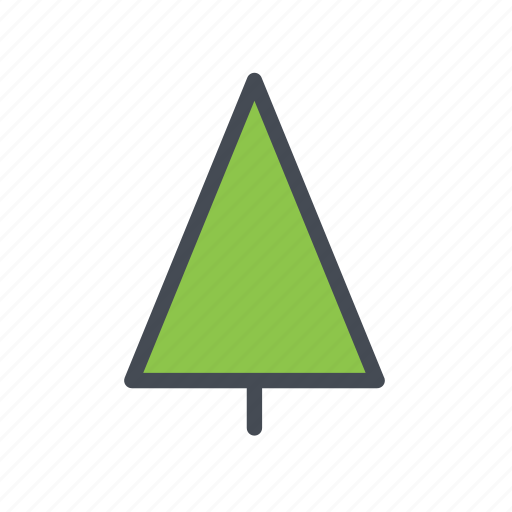 christmas tree, coniferous, tree icon