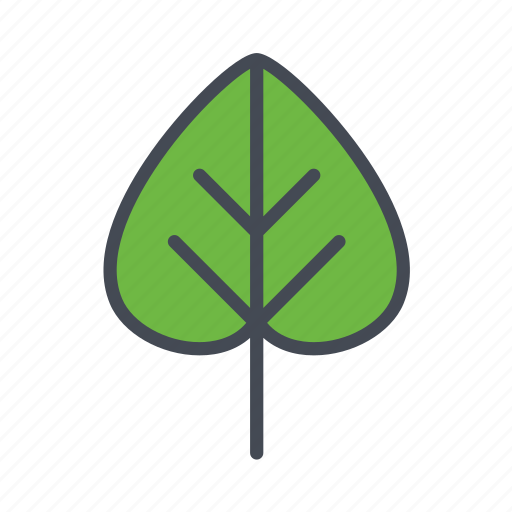autumn, ilac leaf, nature icon