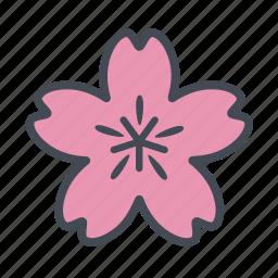 cherry blossom, sakura, spring icon