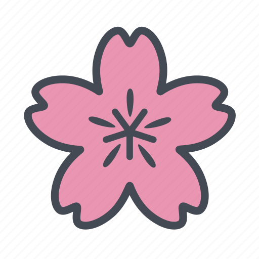 cherry blossom, flower, sakura, spring icon