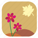 autumn, fall, flower, leaf, plant icon