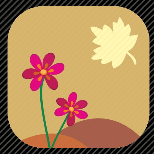 autumn, fall, flower, leaf, plant icon