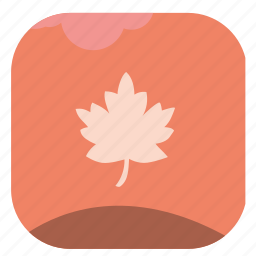 autumn, fall, leaf, nature, oak, season icon