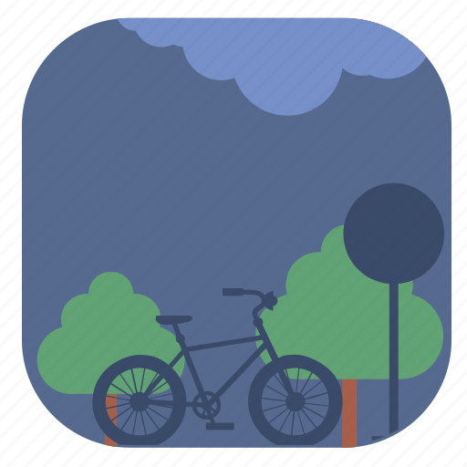cycle, nature, parking, spring icon