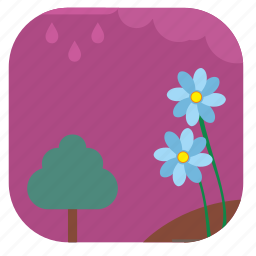 flower, night, sky, summer icon