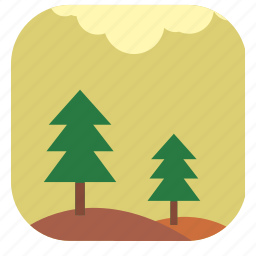 fir, forest, nature, summer, tree icon