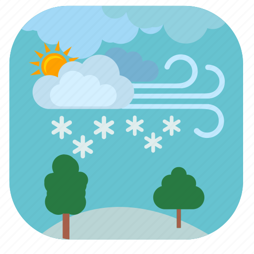 cold, forest, nature, snow, weather, winter icon