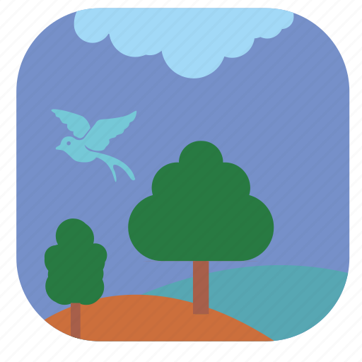 nature, night, park, summer icon