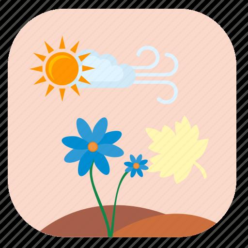 flower, plant, summer, sun icon