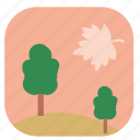 leaf, nature, summer, sunset, tree icon