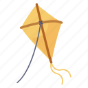 kiting, kite flying, outdoor activity, kite fun, kite festival icon