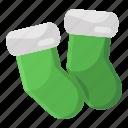 socks, kid socks, footwear, toewear, winter socks icon