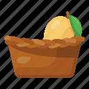 fruit, basket, fruits basket, hand basket, grocery basket, picnic basket, food bucket