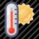 hot, temperature, hot weather, summer season, hot temperature, summer daytime, high degree