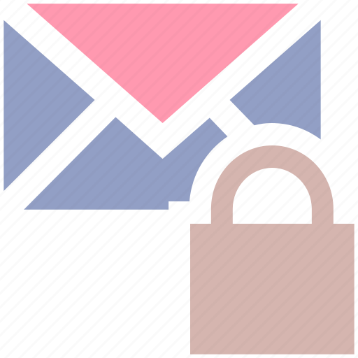 envelope, letter secure, lock, lock message, locked, mail, message icon