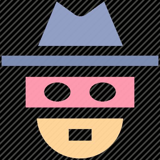 detective, incognito, robber, spy, thief icon