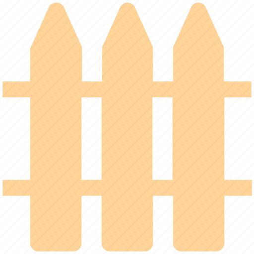 fence, garden, gate, home, park, security, wood icon