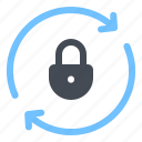 lock, monitoring, password, protection, renewal, security, update