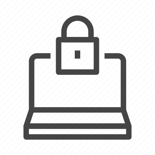 computer, laptop, lock, protection, safety, secure, security icon
