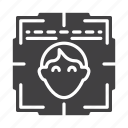 face, facial, scan, verification icon