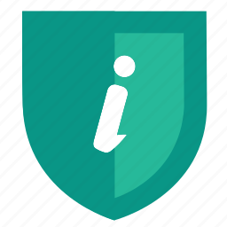 hint, information, instruction, security, shield icon