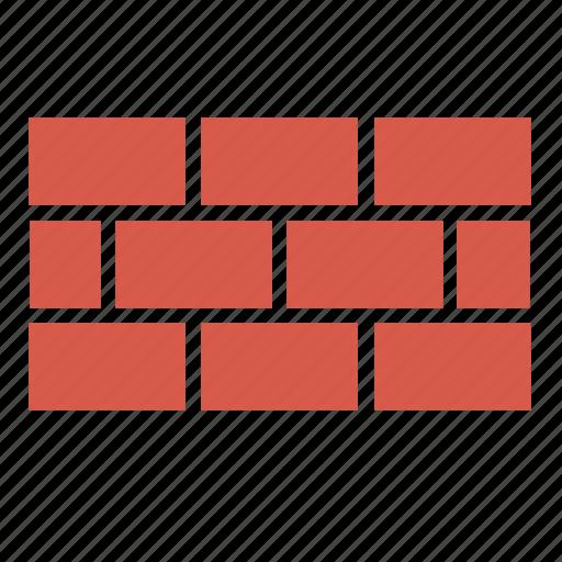 brick, bricks, build, defense, firewall, security, wall icon