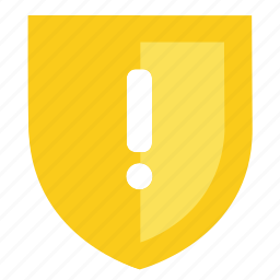 caution, guard, protection, secure, security, shield, warning icon