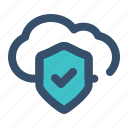 cloud, protection, shield, security