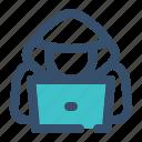 hacker, cracker, person, security