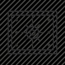 bank vault, coffer, lock box, money vault, safe, vault icon