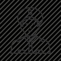cop, guard, guardian, patrol, police, security guard, watchman icon