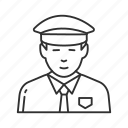 cop, guard, patrol, police, security guard, sentinel, watchman icon