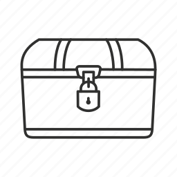 chest, deposit box, locked chest, money chest, safe, treasure chest, vault icon