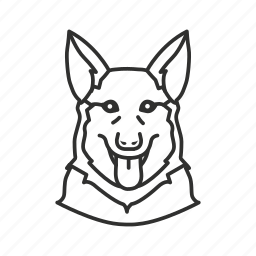 dog, german shepard, guard dog, k9, police dog, security dog, watch dog icon