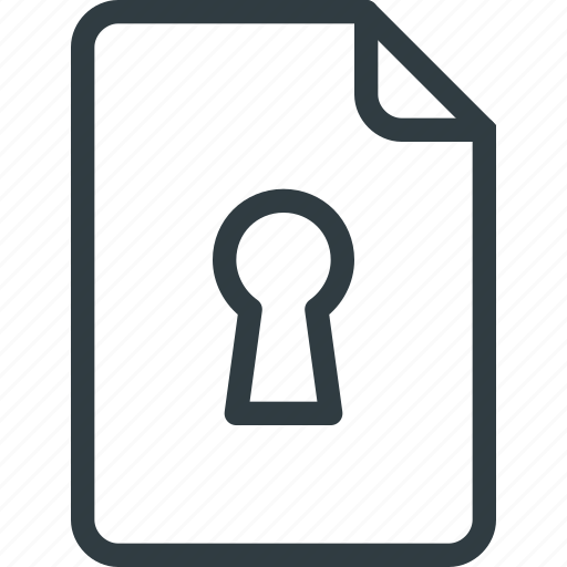file, lock, protect, protection, security icon