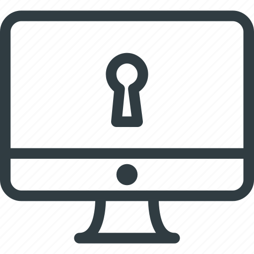 computer, lock, pc, protect, protection, security icon