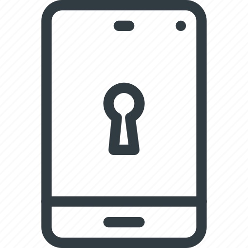 lock, phone, protect, protection, security, smartphone icon