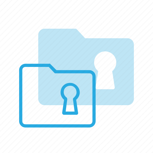 folder, lock, protect, protection, security icon