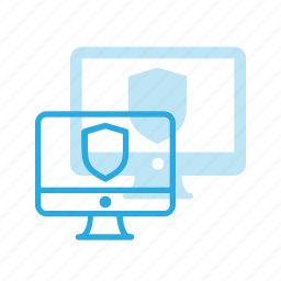 computer, firewall, pc, protect, protection, security, shield icon