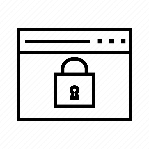 locked website, privacy, protected website, safe, secured website icon