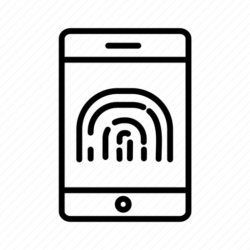 cybersecurity, fingerprint protection, fingerprint scanner, need fingerprint, secured mobile icon
