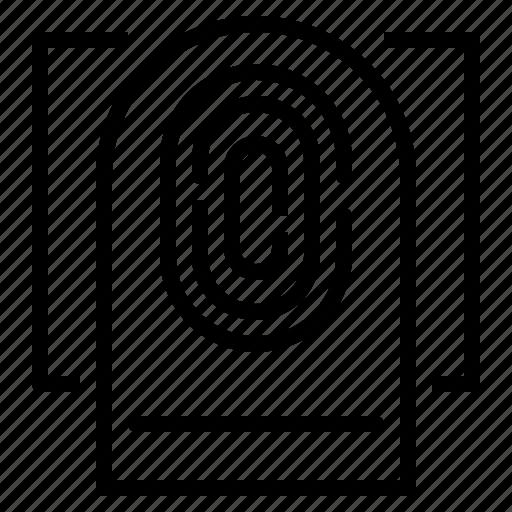 fingerprint, scan, scan fingerprint, scanning icon