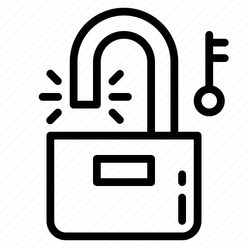 padlock, secure, security, unlocked icon