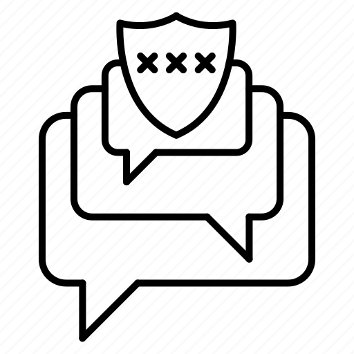 bubble, conversation, protection, security icon
