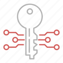 circuit, electronic, key, protection, security icon